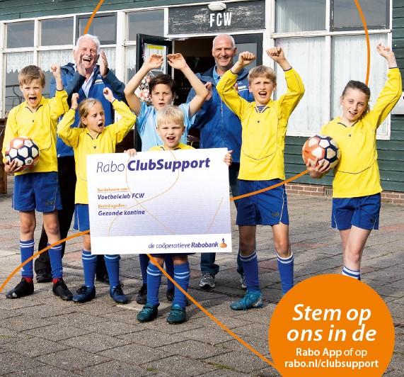 Steun ons door te stemmen rabobank.nl/clubsupport!